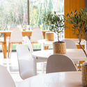 Orangea Bistro, overlooking the pools with a trendy atmosphere
